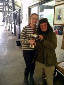 Sabrina Layden from Clondalkin being presented with the Val Kemp Commemoration Cup  by FYHP Yard Supervisor Kathy Heaney